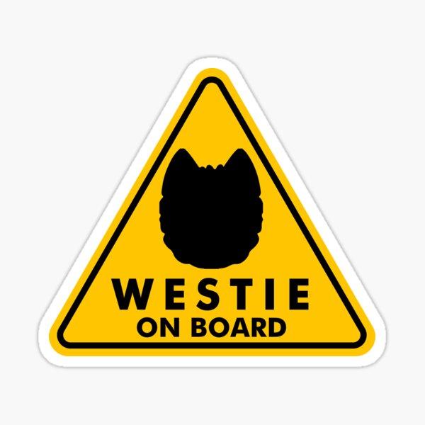 Westie on Board  Sticker