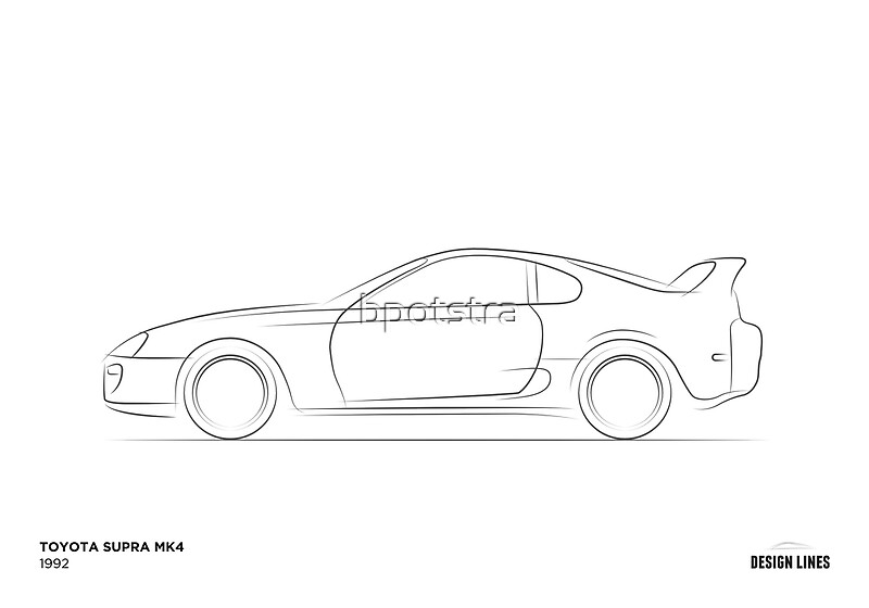 how to draw a toyota supra