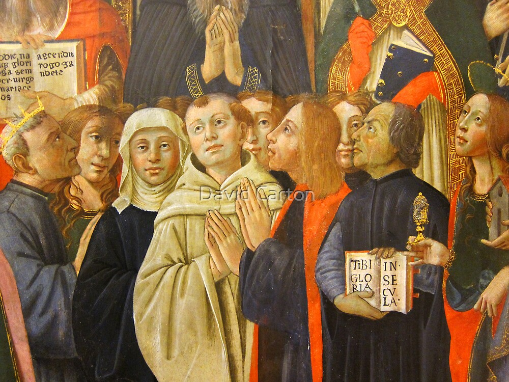 Detail from the coronation of the virgin, Bandini Museum, Fiesole, Italy by David Carton