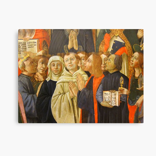Detail from the coronation of the virgin, Bandini Museum, Fiesole, Italy Canvas Print