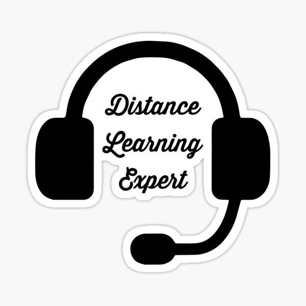 Distance Learning Expert | Teach Online | ESL Teacher | Virtual School Sticker