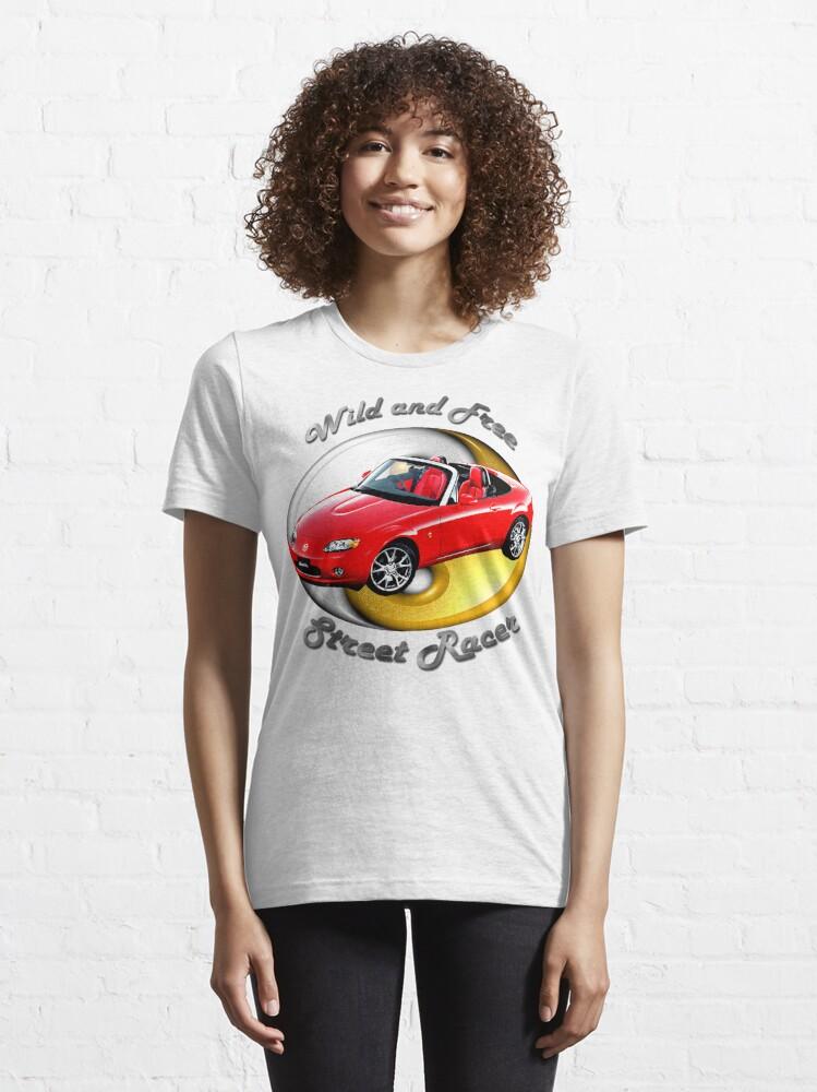Alternate view of Mazda MX-5 Miata Wild and Free Essential T-Shirt