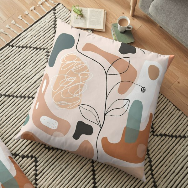 Backpack Abstract Flowers Floor Pillow