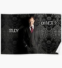 Go Study—Mycroft Holmes Poster