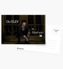 Go Study—James Moriarty v2 Postcards