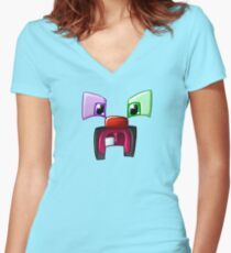 The Toothed Creeper Women's Fitted V-Neck T-Shirt