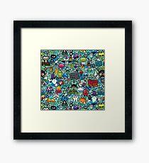 POP ART CARTOON PRINT Framed Print