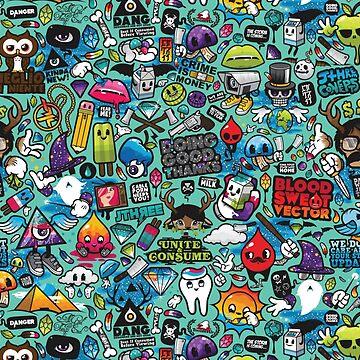 POP ART CARTOON PRINT by DEADCuteUK
