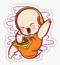 Little monk DJ Sticker