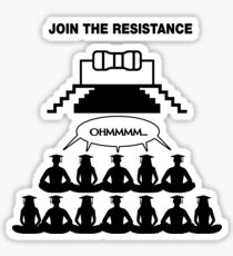 Ohm, Join The Resistance. Sticker