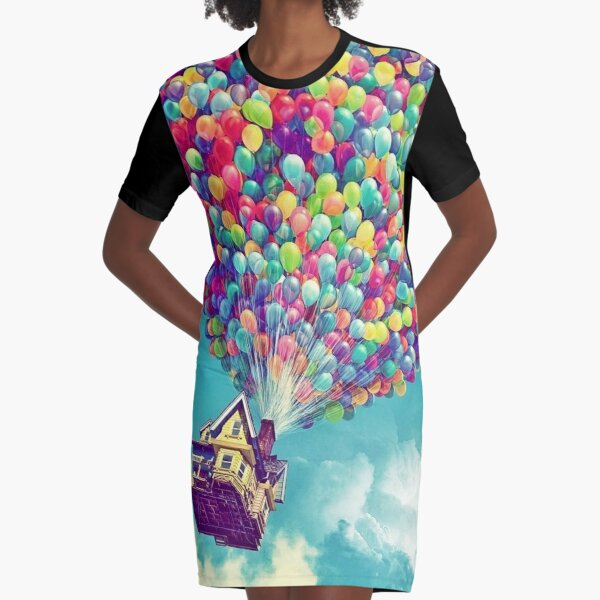 House in the air  Graphic T-Shirt Dress