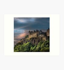 Storm Clouds over Stirling Castle Art Print