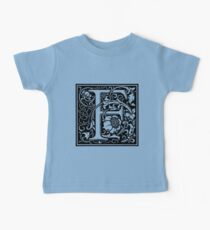 William Morris Renaissance Style Cloister Alphabet Letter F Kids Clothes