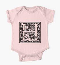 William Morris Renaissance Style Cloister Alphabet Letter H Kids Clothes
