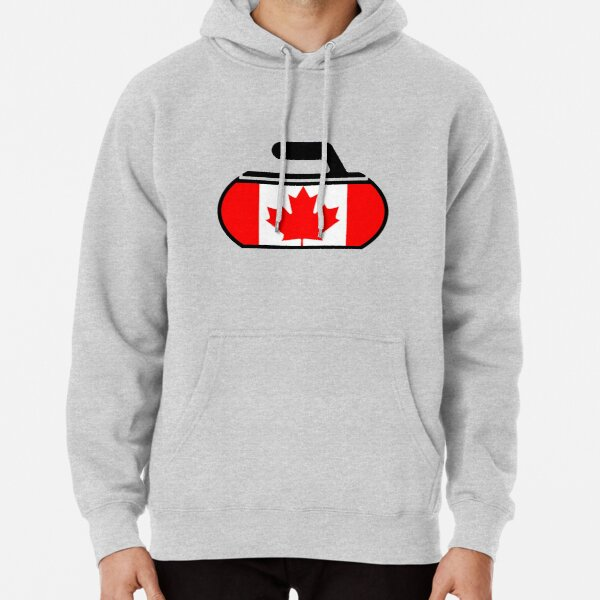 Canada Curling Pullover Hoodie