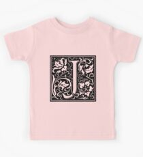 William Morris Renaissance Style Cloister Alphabet Letter J Kids Clothes