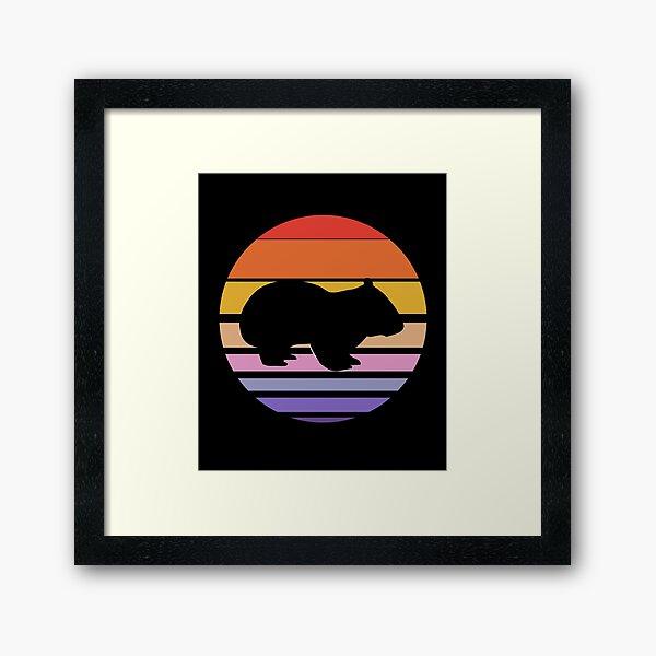 Funny Wombat Gift Framed Art Print