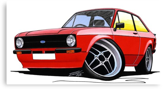 Ford Escort (Mk2) Mexico Red by Richard Yeomans