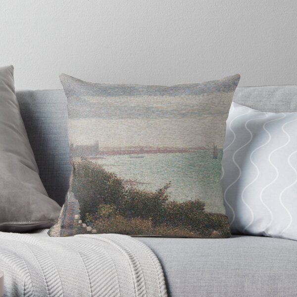 The English Channel at Grandcamp Throw Pillow