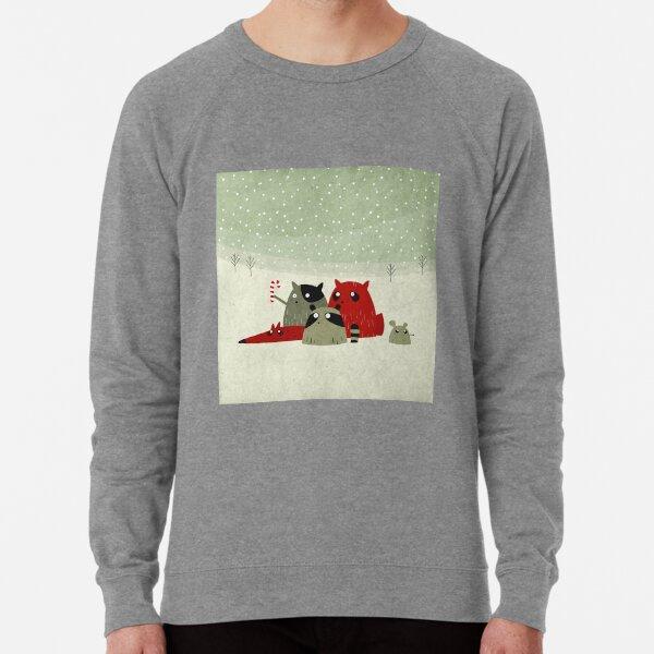 Guilty dudes in the snow Lightweight Sweatshirt