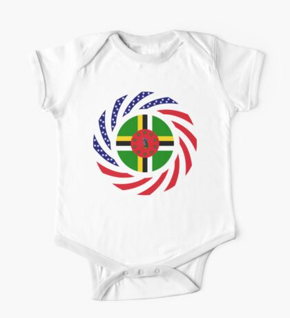 Dominica American Multinational Patriot Flag Series Kids Clothes