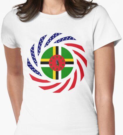 Dominica American Multinational Patriot Flag Series T-Shirt