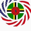 Dominica American Multinational Patriot Flag Series by Carbon-Fibre Media