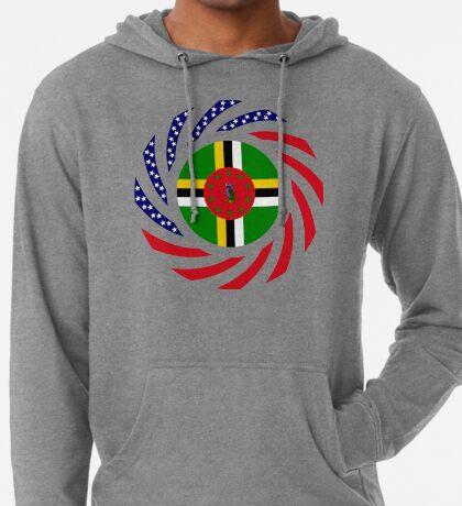 Dominica American Multinational Patriot Flag Series Lightweight Hoodie