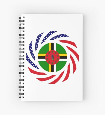 Dominica American Multinational Patriot Flag Series Spiral Notebook