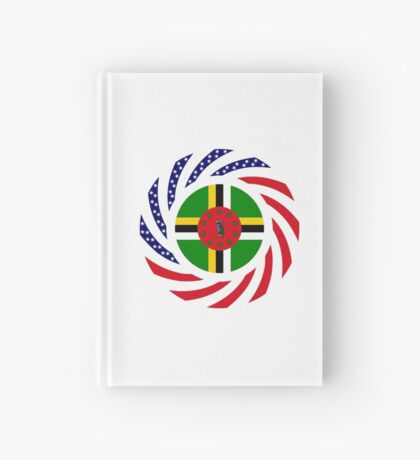 Dominica American Multinational Patriot Flag Series Hardcover Journal