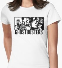 Ghostbusters Comic Book Style Women's Fitted T-Shirt