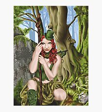 Irish Green Fairy Leprechaun Photographic Print