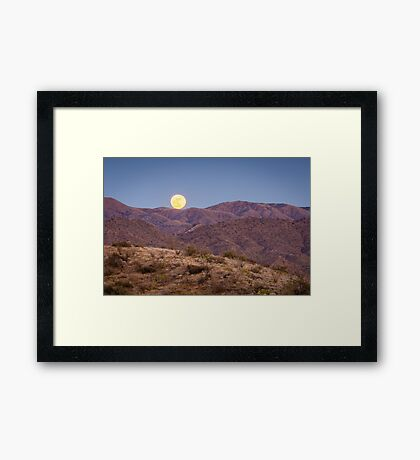 A Catalina Full Moon  Framed Print