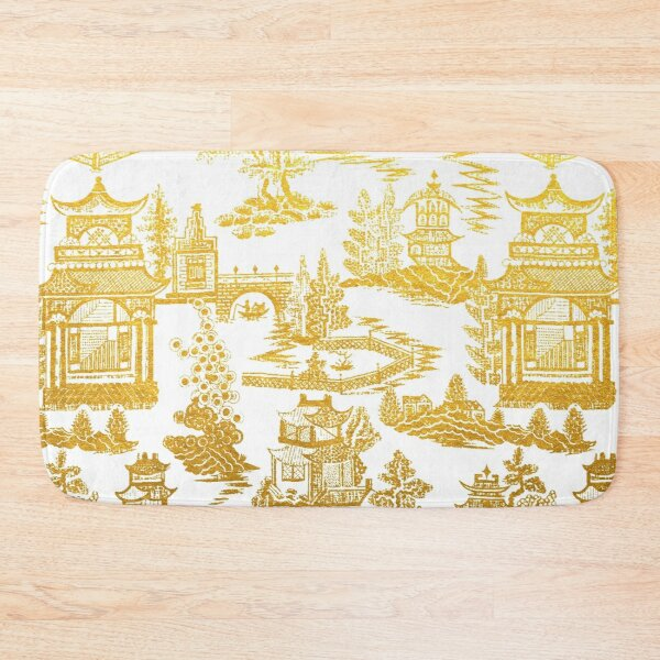 Golden Pagoda Chinoiserie Lovers Bath Mat