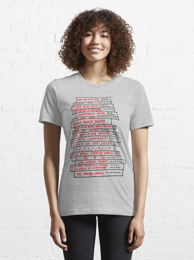 Alternate view of Haruki Murakami Book Fan Essential T-Shirt