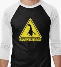 "Camiseta ¾ bicolor para hombre Therizinosaurus ""Danger Floof"""