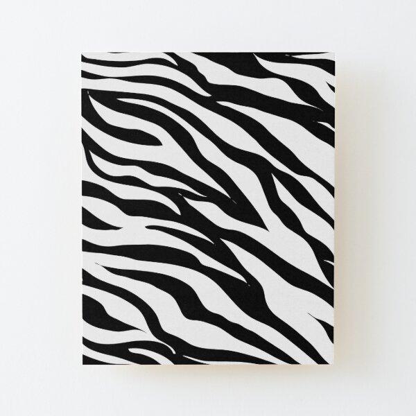 Zebra Wood Mounted Print