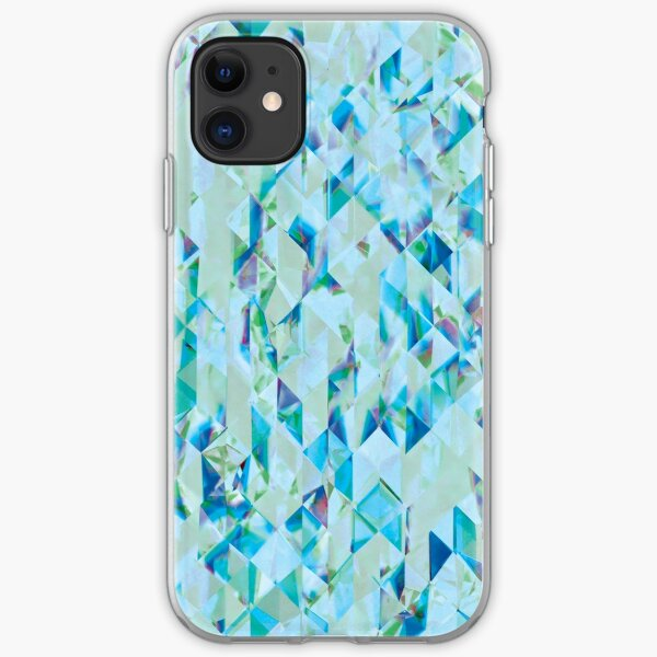 Diamond crystal pattern in blue iPhone Soft Case