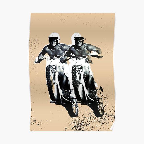 Moto Desert Rider Poster