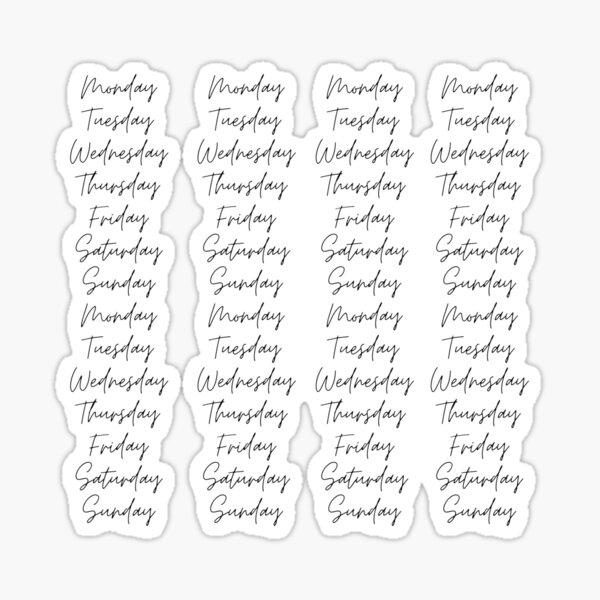 Bujo Days de la semaine Sticker