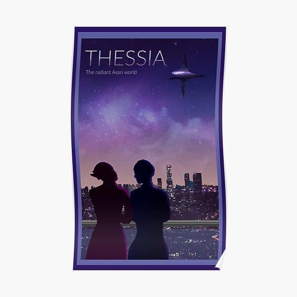 Mass Effect Thessia Travel Poster Fan Art Poster