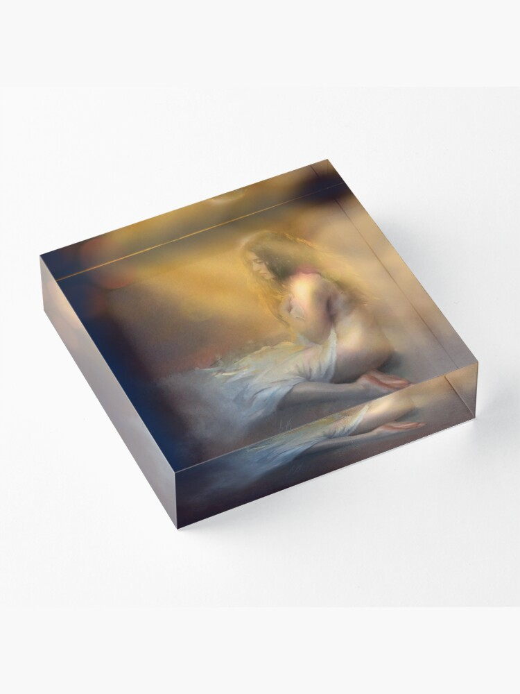 Alternate view of Time to wake up Acrylic Block
