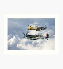 Flying Brothers Art Print