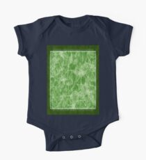 Mixed color Poinsettias 1 Outlined Green One Piece - Short Sleeve