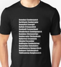 Beneduct Cumberpatch (left-aligned text) Unisex T-Shirt