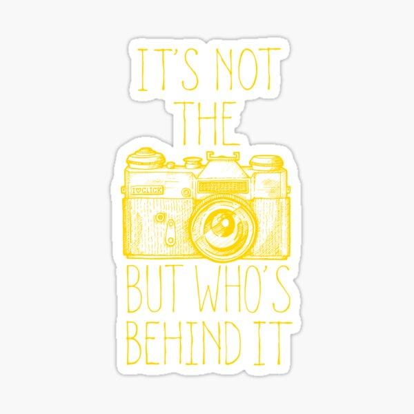 Camera yellow ink Pegatina