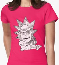 Get Schwifty Womens Fitted T-Shirt