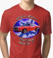 Ford Mustang Mach 1 Night Rider Tri-blend T-Shirt