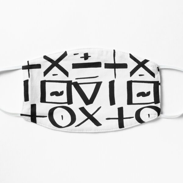 Typographic illustration calligraphic expressive graffiti style, black and white abstract expressionism, writing, tagging, minimal symbols pattern Mask
