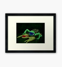 TMNT - Midnight training Framed Print